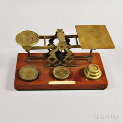 S. Mordan & Co. Brass Postage Scale