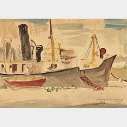 Ludwig Bemelmans (American, 1898-1962)      Habana Tramp Steamer