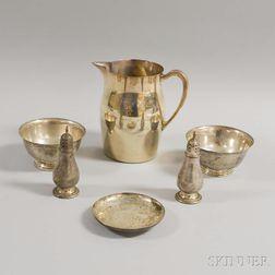Seven Pieces of Sterling Silver Hollowware