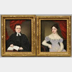 Two Painted Porcelain Portraits by William Corden (1797-1867)