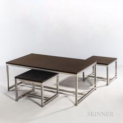 Design Within Reach Coffee Table and Two Occasional Tables