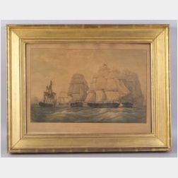 Day & Haghe, Lithographer (English, 19th Century) The Capture of the U.S. Frigate President by a British Squadron, under the Command of