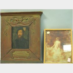 Two Framed Oil Figural Works.