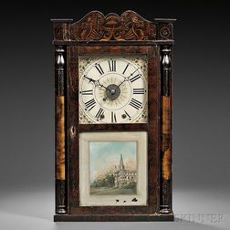 Hiram Welton Stenciled Time and Alarm Clock