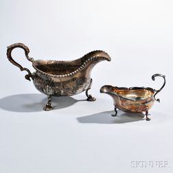Two George III Sterling Silver Sauceboats