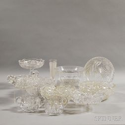 Eleven Pieces of American Colorless Cut Glass