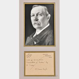 Doyle, Sir Arthur Conan (1859-1930) Autograph Postcard Signed, 27 February 1928.