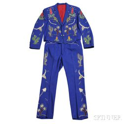 Little Jimmy Dickens     Royal Blue Suit
