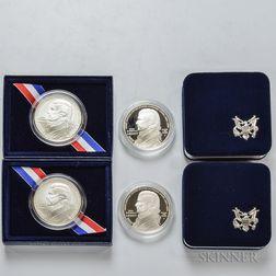 Four 2005 John Marshal Commemorative Dollars