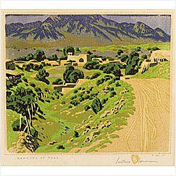 Gustave Baumann (American, 1881-1971)  Ranchos de Taos,