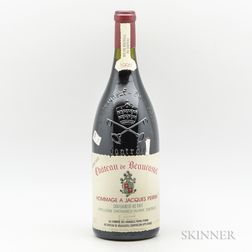 Chateau Beaucastel Chateauneuf du Pape Hommage a Jacques Perrin 1995, 1 magnum