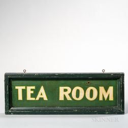 "Green-painted ""Tea Room"" Sign"