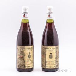 Bernard Grivelet Vosne Romanee Beaux-Monts 1976, 2 bottles
