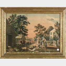 Nathaniel Currier, publisher (American, 1813-1880)    Farmyard Scene.