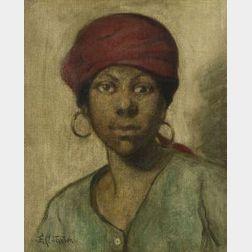 Elizabeth Cady Stanton (American, b. 1894)  Study of Head/  Portrait of a Woman