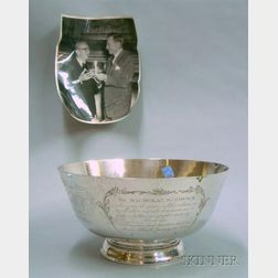 Hammered Sterling Silver Engraved Motion Picture Industry Presentation Revere-style   Bowl
