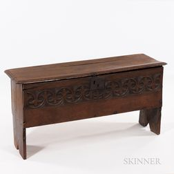 Carved Oak Six-board Chest