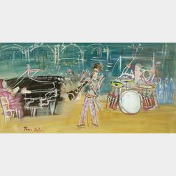 Jean Dufy  (French, 1888-1964)      Le concert