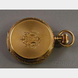 18kt Gold Hunting Case Pocket Watch