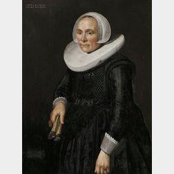 Attributed to Hendrick Cornelisz van der Vliet (Dutch, 1611-1675)      Portrait of  a Woman in a White Ruff