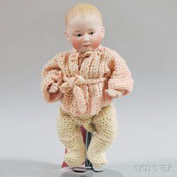 Bisque Head Heubach Character Baby