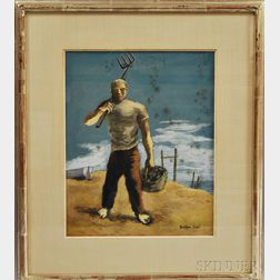 Julian Levi (American, 1900-1982)      Clam Digger