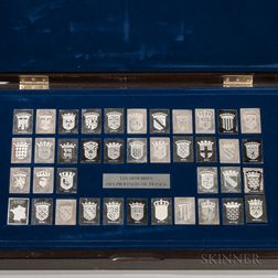 Boxed Set of French Silver Medallions