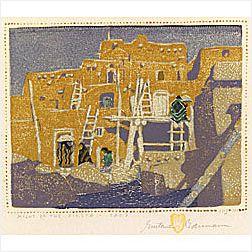 Gustave Baumann (American, 1881-1971)  Night of the Fiesta - Taos