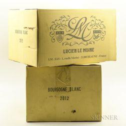 Lucien Le Moine Bourgogne Blanc 2012, 12 bottles (2 x oc)