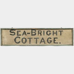 "Painted ""Sea-Bright Cottage"" Sign"