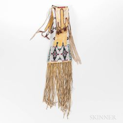 Southern Cheyenne Beaded Hide Pipe Bag