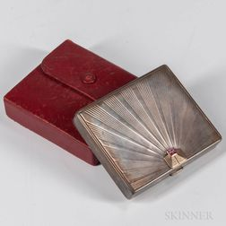 Tiffany & Co. Art Deco Sterling Silver Cigarette Case