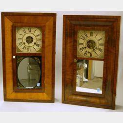 Two Mahogany Cased Ogee Clocks