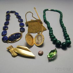 Small Group of Hardstone and Costume Jewelry