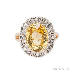 Yellow Sapphire and Diamond Ring, Oscar Heyman