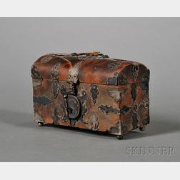 Continental Baroque Tortoiseshell and Metal Mounted Jewel Casket