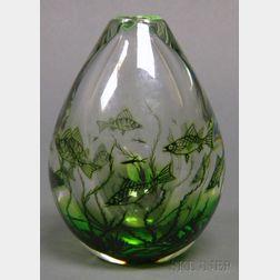 Orrefors Fiskgraal Vase