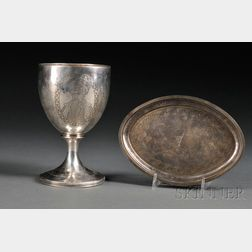 George III Silver Presentation Goblet and Teapot Stand
