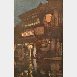 Hiroshi Yoshida (1876-1950), Night in Kyoto