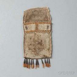 Eastern Plains/Woodlands Quilled Buffalo Hide Shot Pouch