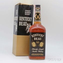 Kentucky Beau Straight Bourbon Whiskey, 1 4/5-quart bottle (oc)
