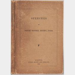 Holmes Jr., Oliver Wendell (1841-1935) Speeches.