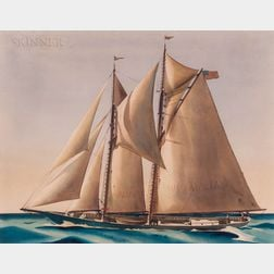 Sandor Bernath (Hungarian/American, 1892-1984)      Golden Sails