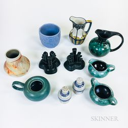 Ten Pieces of Mostly American Pottery