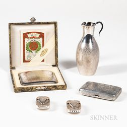 Four Japanese Silver Items