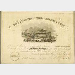 City of Boston Certificate