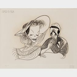 Albert Hirschfeld (American, 1903-2003)      Lot of Two Movie Subjects:  Diane Keaton and Woody Allen in Annie Hall