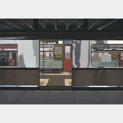 Richard Estes (American, b. 1932)      Subway