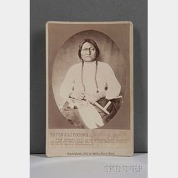 Cabinet Card Photograph of Sitting Bull