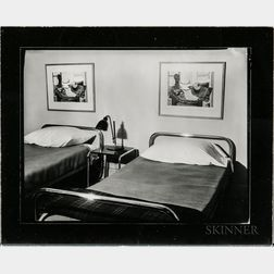 Walker Evans (American, 1903-1975)       Cary Ross's Bedroom, New York